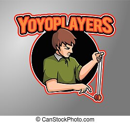 Yoyo Player vector illustration