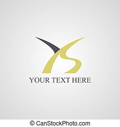ys, początkowy, logotype, litera