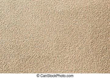 yta, vägg, av, stenar, och, sand, stuck, struktur, bakgrund