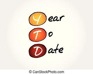YTD - Year To Date acronym