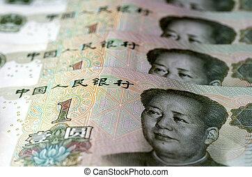yuan, chinois, renminbi, argent, -, une, monnaie, factures
