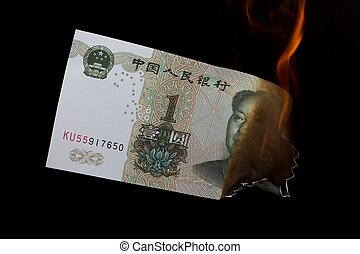 Yuan on black and fire