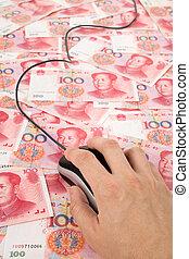 yuan, souris, chinois, informatique