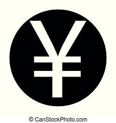 Yuan vector icon