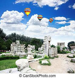 yuanmingyuan, ruines, palais