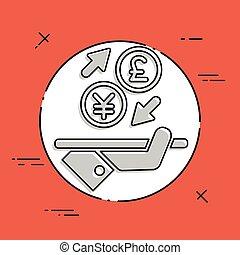 yuan/sterling, -, échange devise étrangère, icône