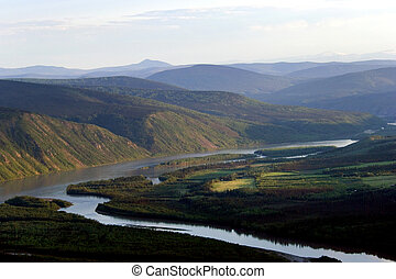 Yucon river around Dawson city, Klondike, Canada