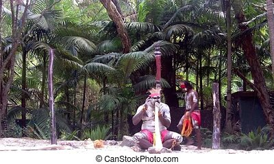 yugambeh, hommes, aborigène, guerriers