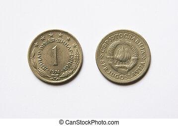 yugoslav, 1, dinar, mynter