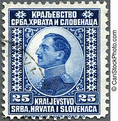 YUGOSLAVIA - 1921: shows king Alexander I of Yugoslavia - ...