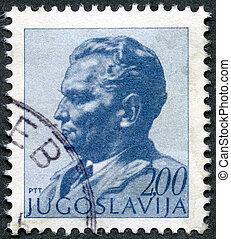YUGOSLAVIA - 1974: shows portrait of Marshal Josip Broz Tito...