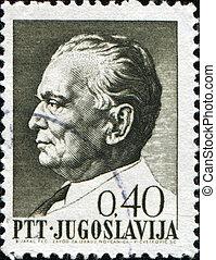 Marshal Josip Tito - Yugoslavia - CIRCA 1974: A Stamp...