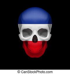 Yugoslavian flag skull