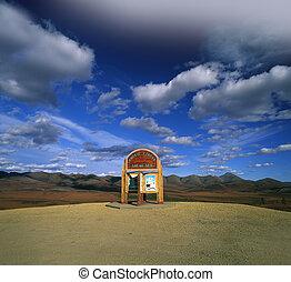 Yukon - Arctic Circle in Richardson Mountains, Canada