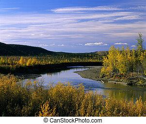 Yukon - Eagle River in the fall