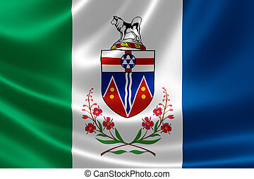 Yukon Flag of Canada - 3D rendering of the Canadian ...