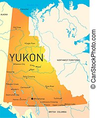 Yukon province - Yukon vector province color map