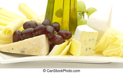 yummi cheese - deliciouse cheese plate close