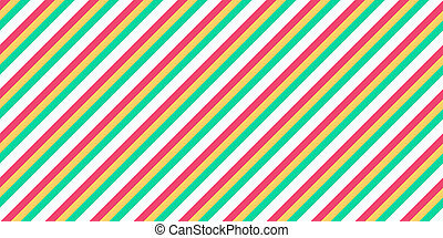 Yummy Candy Seamless Inclined Stripes Background. Modern Colors Sidelong Lines Texture. Vintage Style Stripe Backdrop.