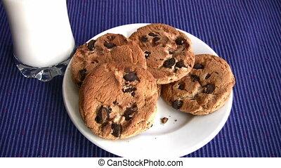 Yummy Chocolate chip cookies - Milk and chocolate chip...