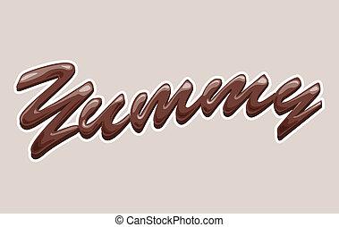 yummy, chocolate