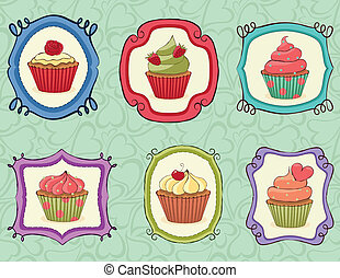 Yummy Cupcakes! - Yummy Cupcakes on sketchy frames.
