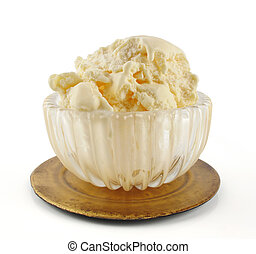 Yummy ice cream - Beautiful leaded glass bowl of...