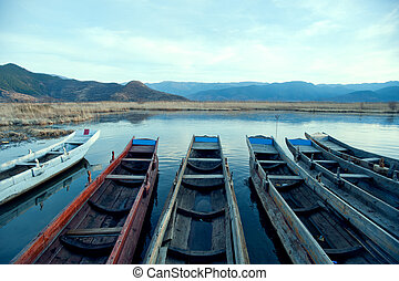 Yunnan, China, Lugu Lake scenery