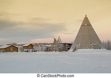 yurt, キャンプ, 北, 付属建築物