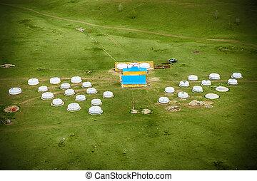 yurt, キャンプ, mongolia