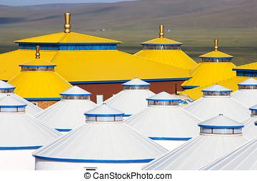 yurt, 内部, mongolia