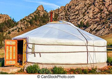 Yurt (ger) tourist camp, Mongolia