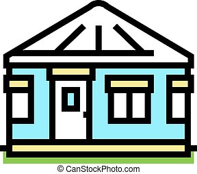 yurt house color icon vector. yurt house sign. isolated symbol illustration