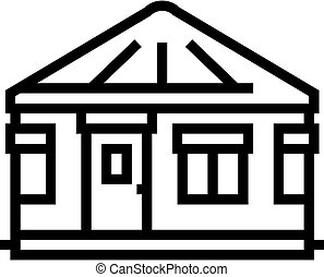 yurt house line icon vector. yurt house sign. isolated contour symbol black illustration