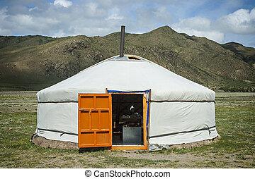 yurt, mongolian, 典型的