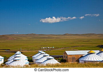 Yurt - Nomad's tent is the national dwelling of Inner Mongolia .