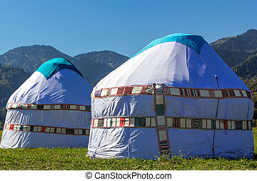 yurta, nomadic, -, アジア, 人々