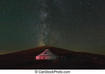 yurts, mongolian