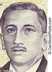 Yusof bin Ishak (1910-1970) on 2 Dollars 2005 Banknote from...