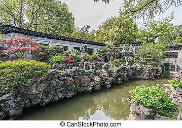 yuyan, shanghai, porcelaine, jardin