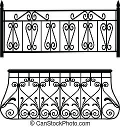 zábradlí, balkón