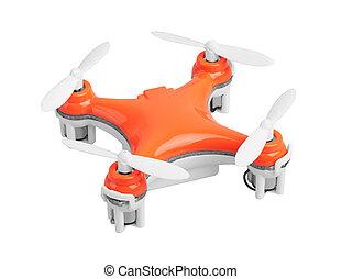 zángano, blanco, quadrocopter