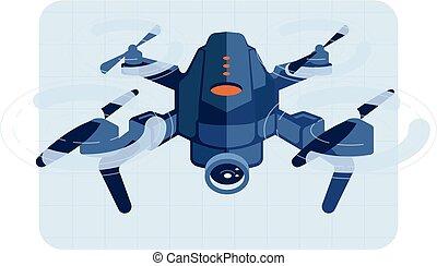 zángano, vuelo, helicóptero