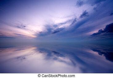 západ slunce, grafické pozadí
