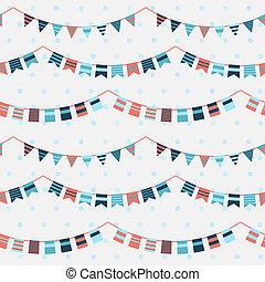 zászlódísz, motívum, girland, színes