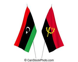 zászlók, angola, líbia