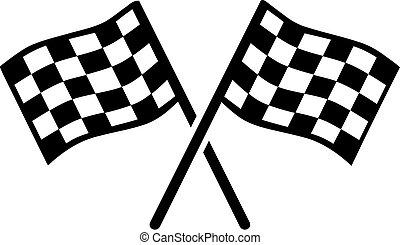 zászlók, gól, kartracing