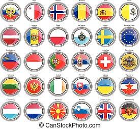 zászlók, közül, a, europe.