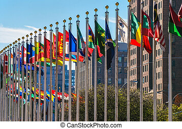 zászlók, közül, nemzetek