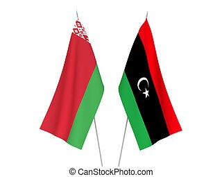 zászlók, líbia, fehéroroszország